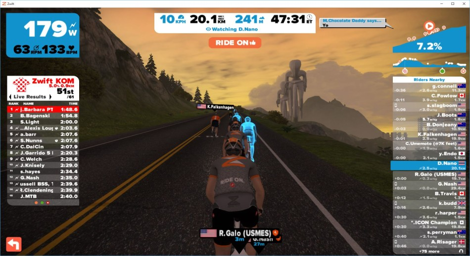 zwift gruppetto